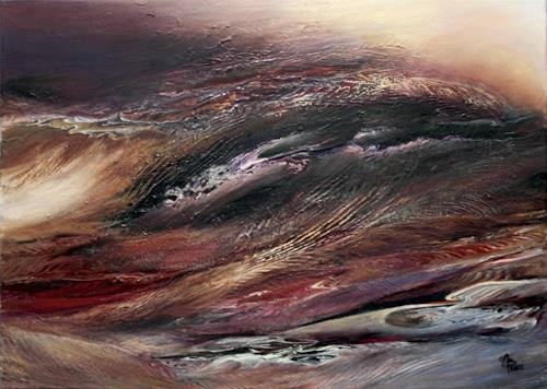 Marion Bellebna, Natur abstrakt 19, Natur, Landschaft, Abstrakte Kunst, Abstrakter Expressionismus