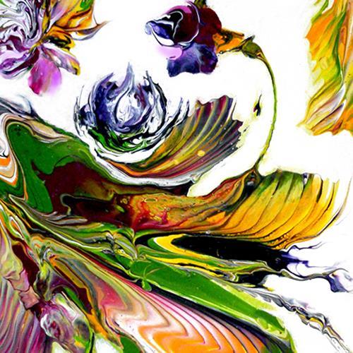 Marion Bellebna, Blüten, Pflanzen, Natur, Gegenwartskunst, Abstrakter Expressionismus