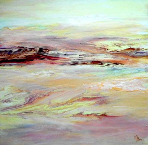 Marion Bellebna, Natur abstrakt 24, Landschaft, Natur, Gegenwartskunst, Expressionismus