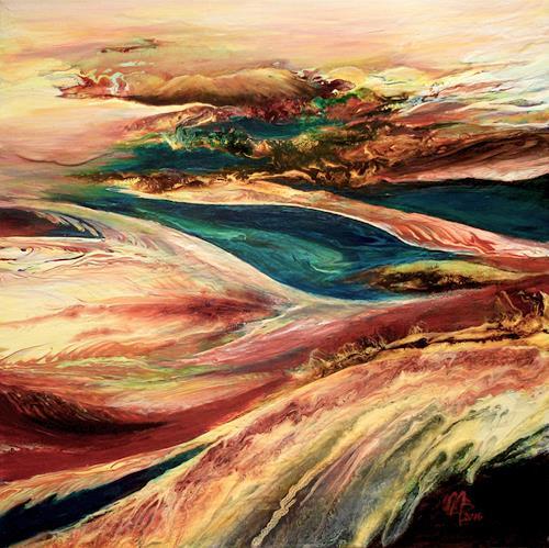 Marion Bellebna, Natur abstrakt 27, Fantasie, Natur, Abstrakte Kunst, Expressionismus