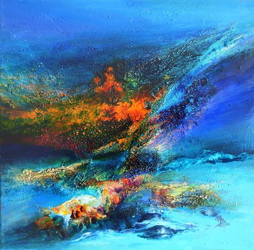 Marion Bellebna, Aqua VII, Natur, Fantasie, Gegenwartskunst, Expressionismus