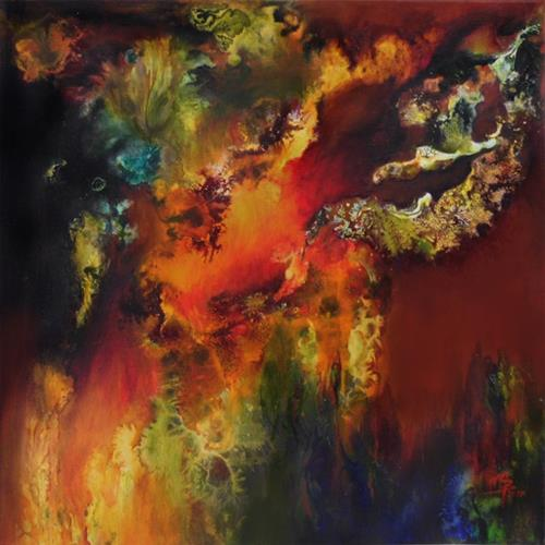 Marion Bellebna, Vision, Fantasie, Abstraktes, Informel, Abstrakter Expressionismus