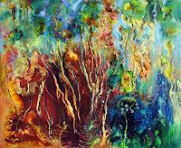 Marion-Bellebna-Natur-Wald-Fantasie-Moderne-Abstrakte-Kunst-Informel