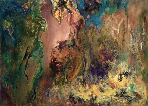 Marion Bellebna, Imaginaire, Abstraktes, Fantasie, Informel, Expressionismus