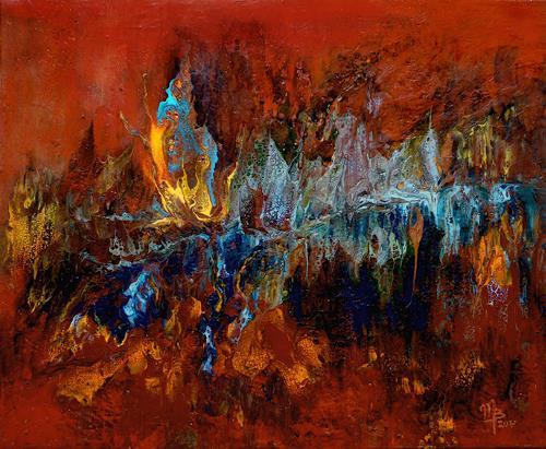 Marion Bellebna, Natur abstrakt 32, Natur: Diverse, Fantasie, Informel