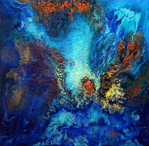Marion Bellebna, Atlantis II, Natur: Wasser, Fantasie, Abstrakte Kunst