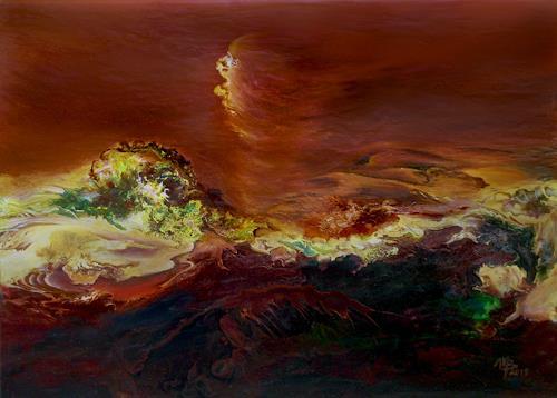 Marion Bellebna, Dschinn, Natur: Diverse, Fantasie, Informel, Expressionismus