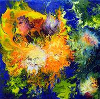 Marion-Bellebna-Pflanzen-Blumen-Fantasie-Moderne-Abstrakte-Kunst-Informel