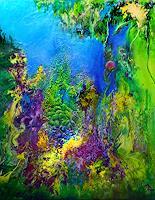 Marion-Bellebna-Fantasie-Pflanzen-Blumen-Moderne-Abstrakte-Kunst-Informel