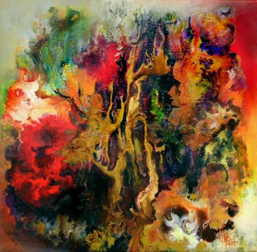 Marion Bellebna, sound trees, Fantasie, Natur: Diverse, Informel, Abstrakter Expressionismus