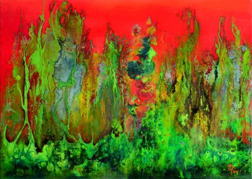 Marion Bellebna, Natur abstrakt 40, Fantasie, Natur, Informel, Abstrakter Expressionismus