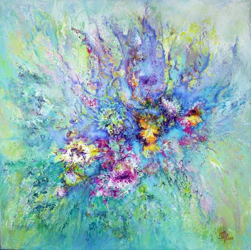 Marion Bellebna, Traumsommer, Pflanzen: Blumen, Fantasie, Informel, Expressionismus