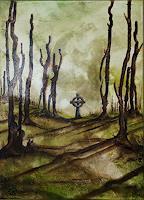 Juergen-Bley-Diverse-Landschaften-Natur-Wald-Moderne-Avantgarde-Surrealismus