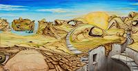 Juergen-Bley-Landschaft-Berge-Fantasie-Moderne-Avantgarde-Surrealismus