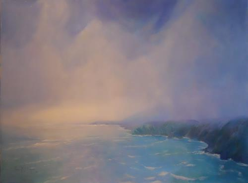 Elisabeth Ksoll, Sanfte Brandung, Landschaft: See/Meer, Romantik