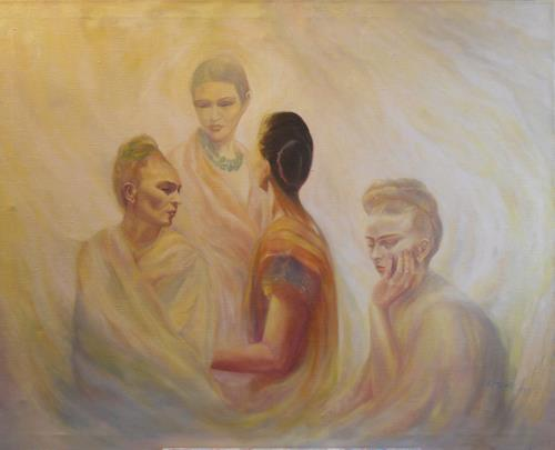 Elisabeth Ksoll, Hommage a Frida Kahlo, Geschichte, Situationen, Expressionismus