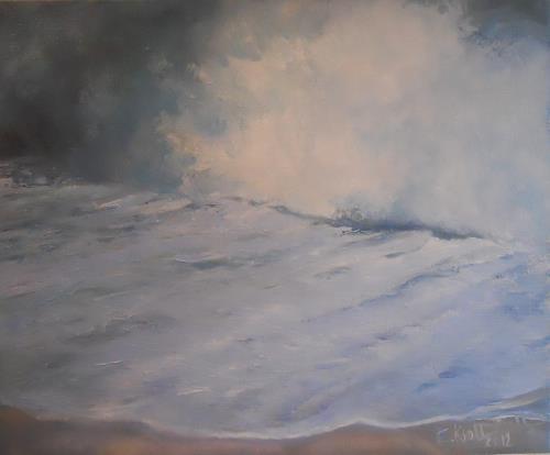 Elisabeth Ksoll, Brandung, Landschaft: See/Meer, Gefühle