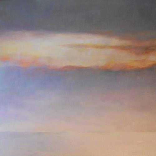 Elisabeth Ksoll, Abendhimmel, Landschaft: See/Meer, Gefühle, Minimal Art