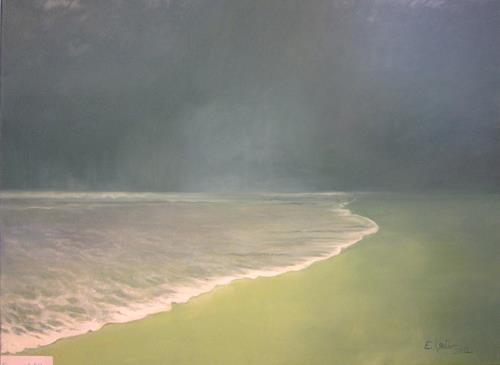 Elisabeth Ksoll, Einsame Welle, Landschaft: See/Meer, Bewegung, Expressionismus