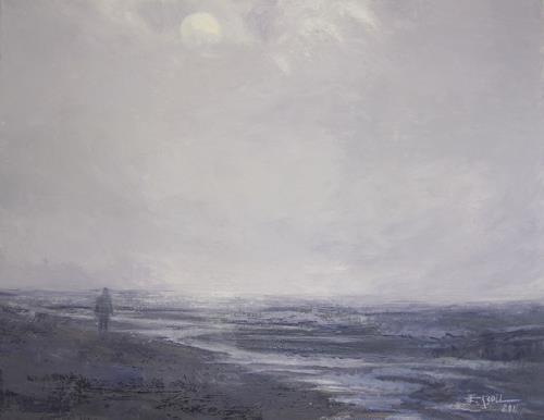 Elisabeth Ksoll, Spaziergang am Meer, Landschaft: See/Meer, Gefühle