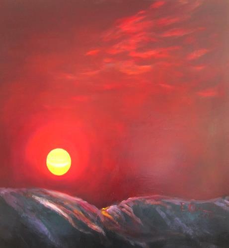 Elisabeth Ksoll, Erloschener Planet, Landschaft: See/Meer, Poesie