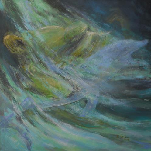 Elisabeth Ksoll, Lass uns träumen, Natur: Wasser, Fantasie, expressiver Realismus