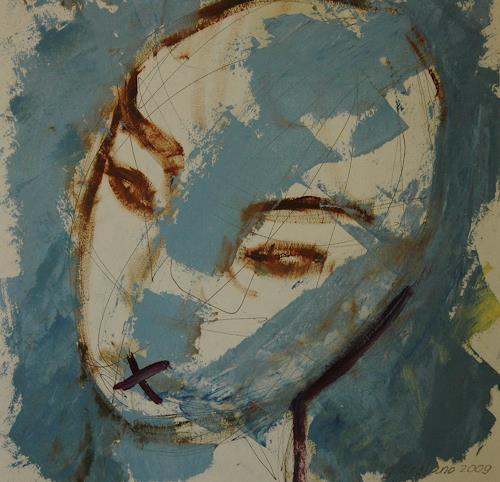 Gabriela Arellano, Silencio, Abstraktes, Expressionismus, Abstrakter Expressionismus