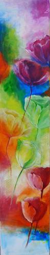 Angelika Frank, Sommerwind, Pflanzen: Blumen, Abstrakte Kunst