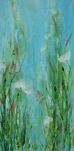 Angelika Frank, Gräser, Diverse Pflanzen, Abstrakte Kunst