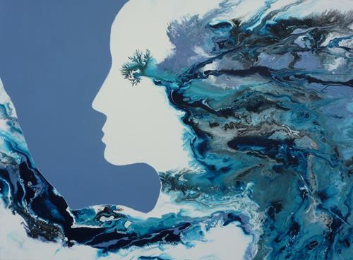 Angelika Frank, Eiskönigin, Menschen: Gesichter, Abstrakte Kunst, Expressionismus