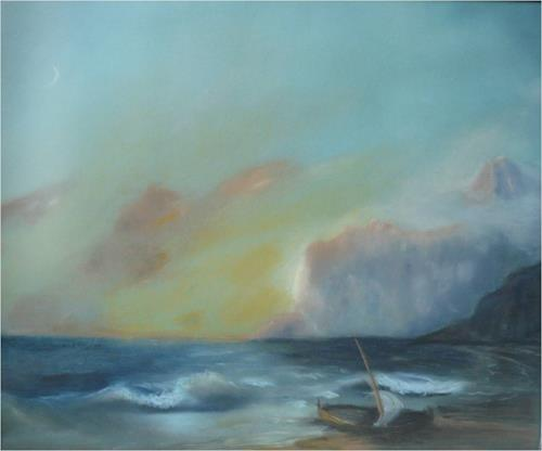 ReMara, Die Krim, Landschaft: See/Meer, Abstrakte Kunst, Expressionismus