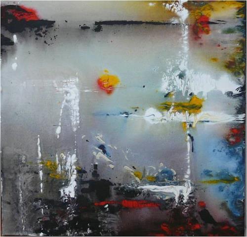 ReMara, Abend am See, Abstraktes, Landschaft: See/Meer, Gegenwartskunst, Expressionismus