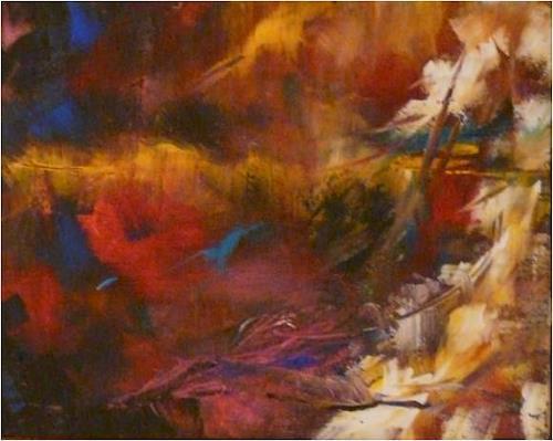 ReMara, Kleiner Herbstgruß 1, Abstraktes, Natur, Gegenwartskunst