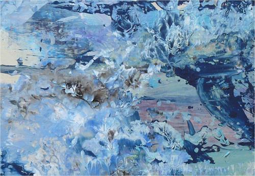 ReMara, blaubedeckt, Pflanzen, Natur, Gegenwartskunst, Expressionismus