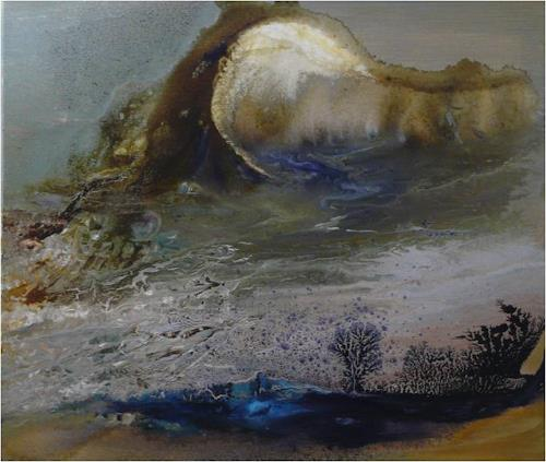 ReMara, Mondnacht, Landschaft, Fantasie, Gegenwartskunst, Expressionismus