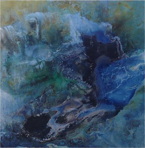 ReMara, Wasserklänge, Abstraktes, Diverse Landschaften, Gegenwartskunst, Abstrakter Expressionismus