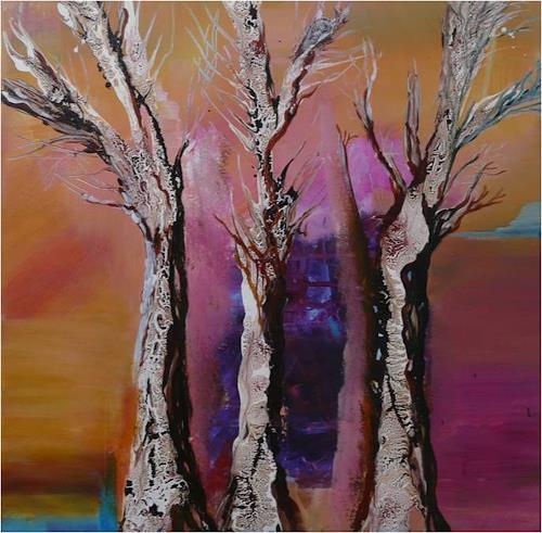 ReMara, Trees in Pink, Abstraktes, Pflanzen: Bäume, Gegenwartskunst, Abstrakter Expressionismus