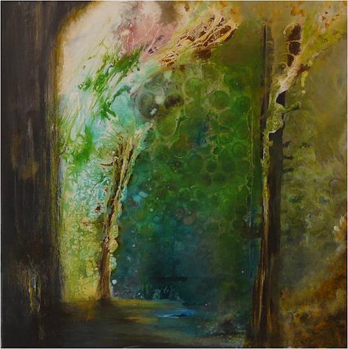 ReMara, Waldimpression, Abstraktes, Natur: Wald, Gegenwartskunst, Expressionismus