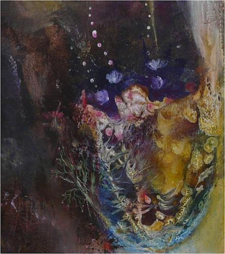 ReMara, Flora (Detail), Abstraktes, Pflanzen: Blumen, Gegenwartskunst, Expressionismus