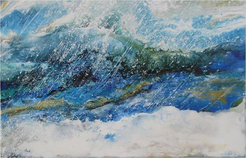 ReMara, Schneetreiben, Landschaft: Winter, Poesie, Gegenwartskunst, Expressionismus