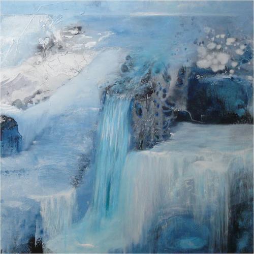 ReMara, Eiszeit, Landschaft: Winter, Fantasie, Gegenwartskunst, Expressionismus