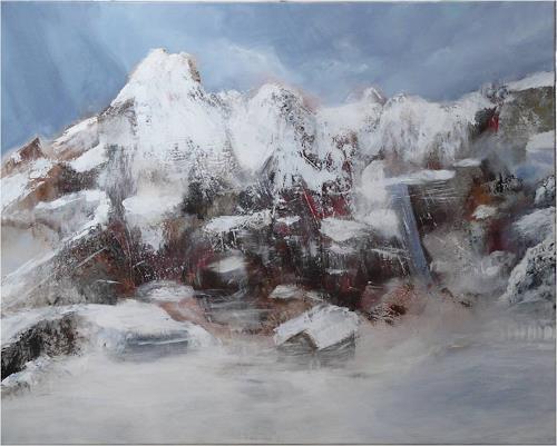 ReMara, Bergimpression, Landschaft: Berge, Fantasie, Gegenwartskunst, Expressionismus