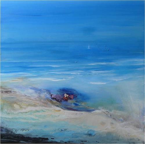 ReMara, Ins Blaue hinein, Natur: Wasser, Gefühle: Freude, Gegenwartskunst, Expressionismus