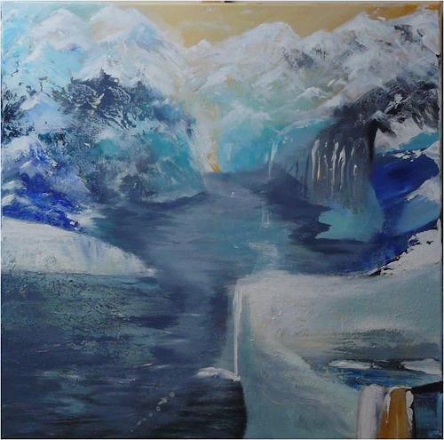 ReMara, Bergseeimpression, Fantasie, Natur: Gestein, Gegenwartskunst, Expressionismus