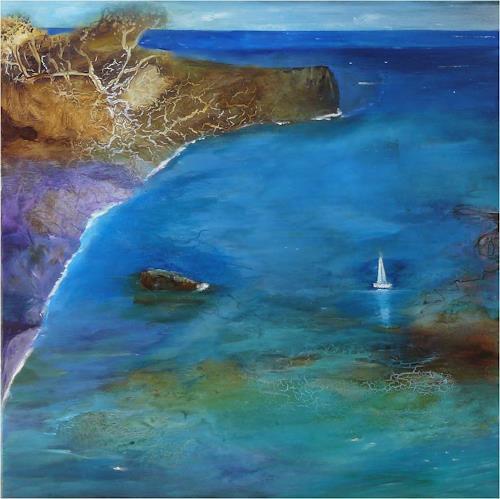 ReMara, Segelfrei, Fantasie, Landschaft: See/Meer, Gegenwartskunst, Expressionismus