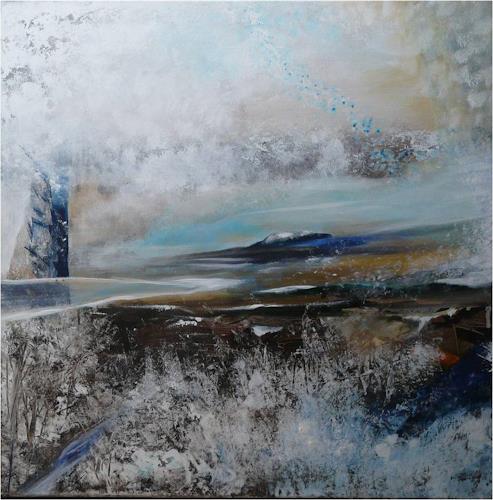ReMara, Winterland, Zeiten: Winter, Landschaft: Winter, Gegenwartskunst, Abstrakter Expressionismus