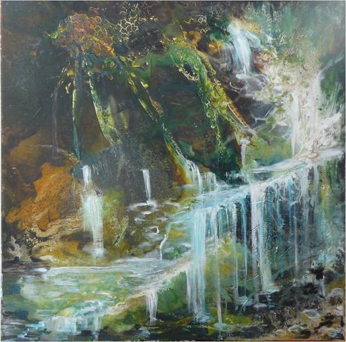 ReMara, Wasserdschungel, Diverse Landschaften, Fantasie, Gegenwartskunst, Expressionismus