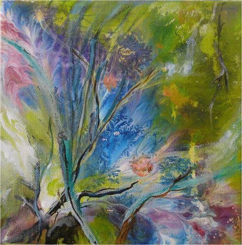 ReMara, Im großen Grün versunken..., Abstraktes, Natur: Diverse, Gegenwartskunst, Abstrakter Expressionismus