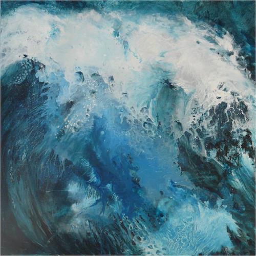 ReMara, Die siebte Welle, Abstraktes, Natur: Wasser, Gegenwartskunst, Expressionismus