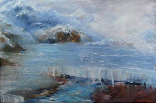 ReMara, Gletscherschmelze, Gesellschaft, Landschaft: Berge, Gegenwartskunst, Expressionismus